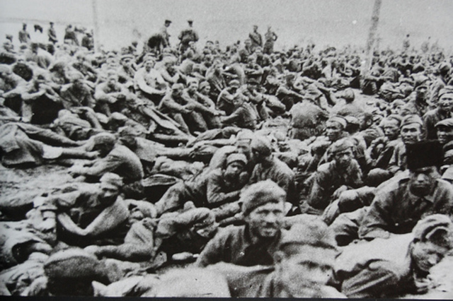 Soviet prisoners of war and Polish prisoners are killed in Nazi test of gas chambers at Auschwitz in occupied Poland.
