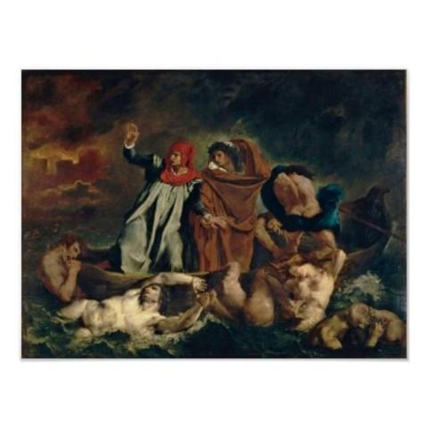 Dante y Vergil en el infierno
