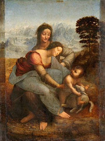 Santa con la virgen y el niño.