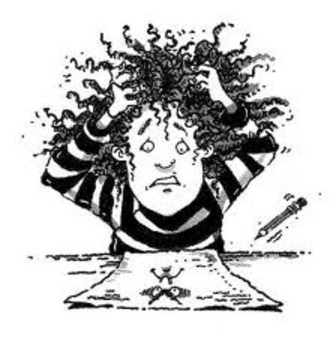 Writing becomes a struggle!
