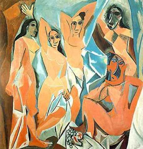 Picasso pinta Las señoritas de Aviñón