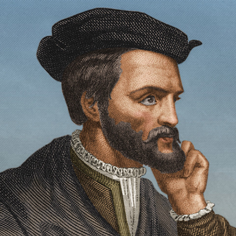 Jacques Cartier arrives in America