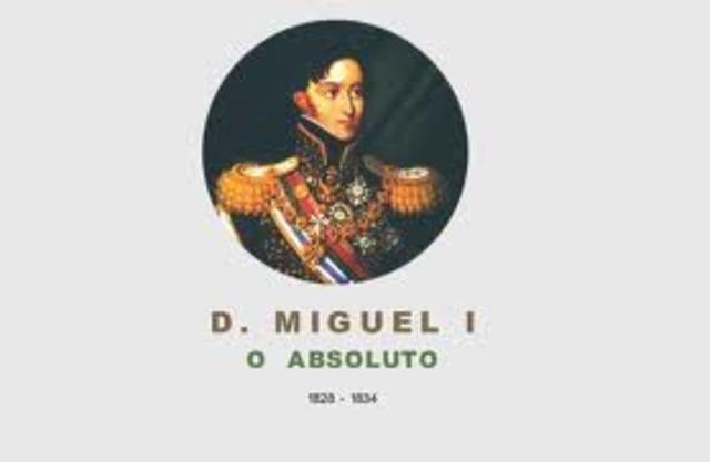 Reconhecimento de D. Miguel como rei, pelo papa.
