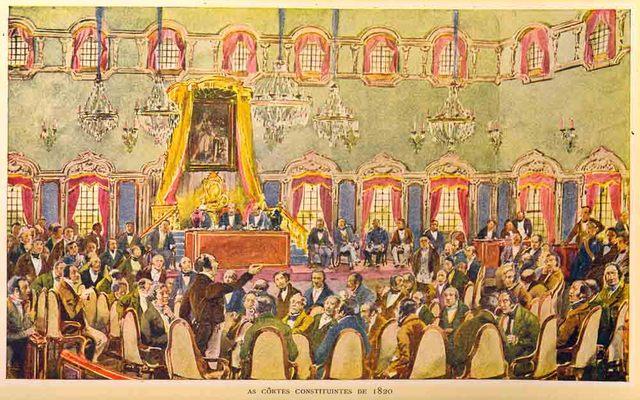 Abertura das primeiras Cortes, de acordo com a Carta Constitucional, após o fim da Guerra Civil.