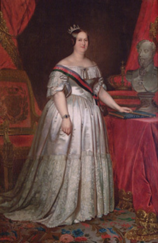 Juramento solene de D. Maria II da Carta Constitucional.