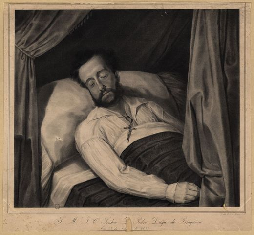 Morte de D. Pedro IV, em Queluz.