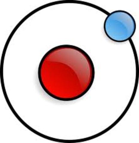 Thomson demostró que el hidrógeno tiene un único electrón