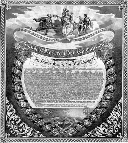 Verabschiedung des Bundesvertrags
