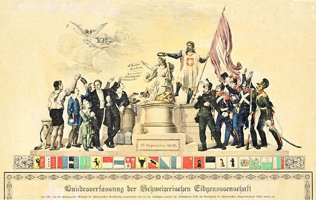 Verabschiedung der Bundesverfassung