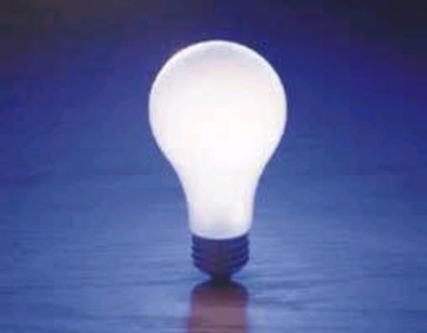 la primera Lámpara Incandescente