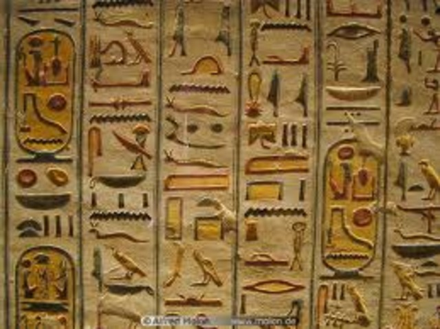 Development of hieroglyphs were used in Abydos 3400 BC