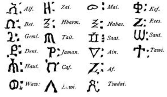 World oldest alphabet developed in Egypt 2000 BC