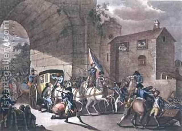 Louis XVI and his family tried to flee France but were arrested at Varennes