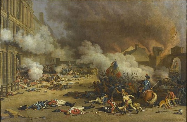The Storming of the Tuileries Palace where Louis XVI was arrested