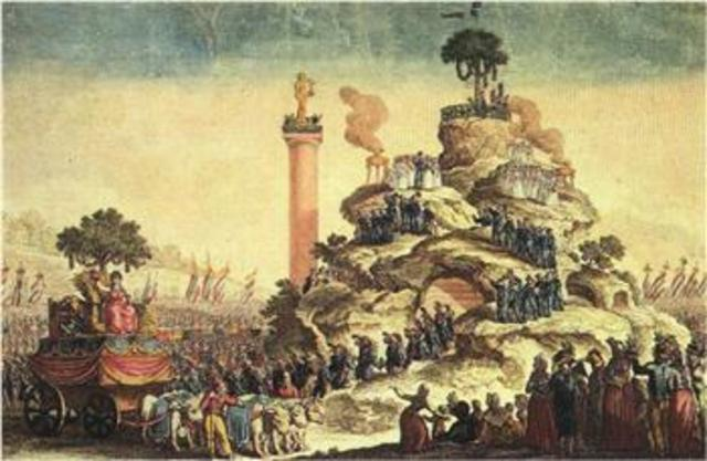 """Robespierre issued a decree to the new religion of """"The Cult of the Supreme Being"""""""