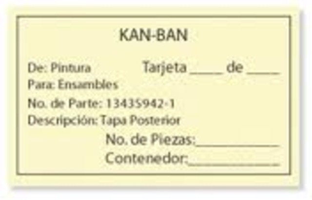 Kanban (tarjeta en japonés) - Taiichi Ohno
