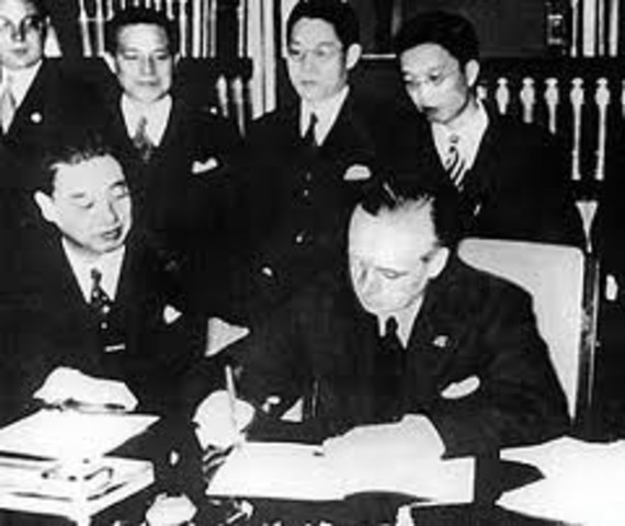 Anticomintern Pact between Germany and Japan