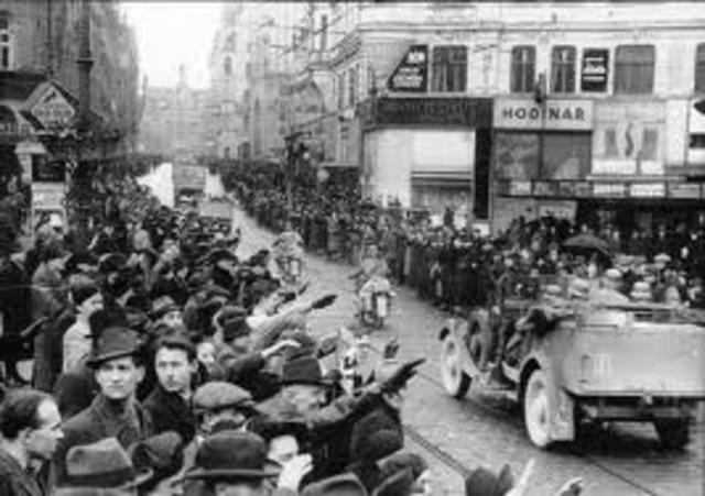 German troops enter Austria