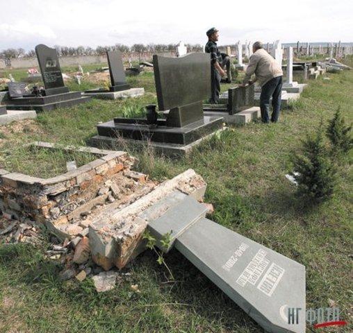осквернение могил в Белогорском районе