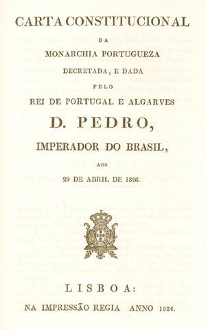 D. Pedro IV outorga a Carta Constitucional