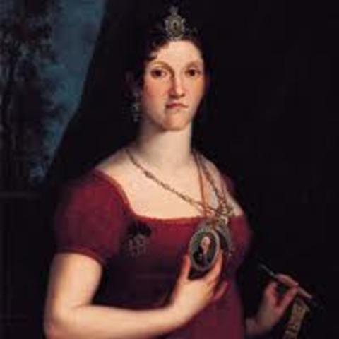 Morte da rainha viúva D. Carlota Joaquina, em Lisboa