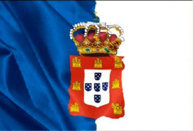 Nova bandeira portuguesa, bicolor (azul e branco)