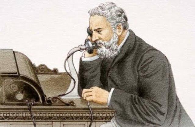 Alexander Graham Bell y su telefono