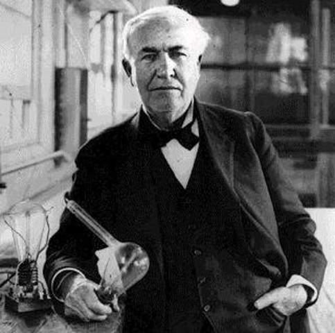 Thomas Edison y su bombilla
