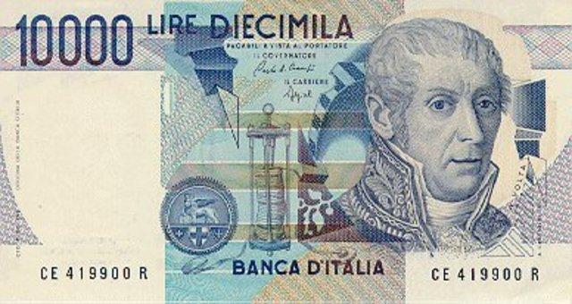 Billete En Honor A Alessandro Volta