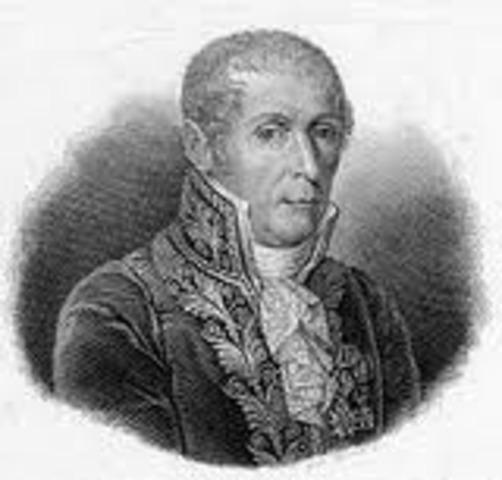 Naciiento de Alessandro Volta