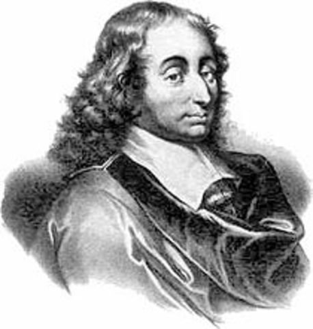 Blaise Pascal In ventó el primer calculador mecánico.