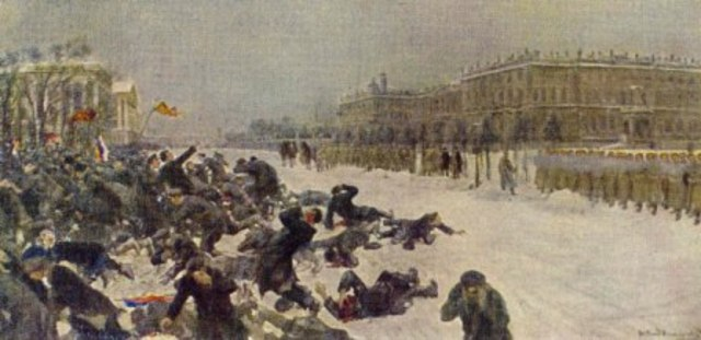 """Bloody Sunday"" massacre of protestors in St Petersburg"
