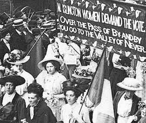 Movement for Women's Suffrage becomes active in Britain