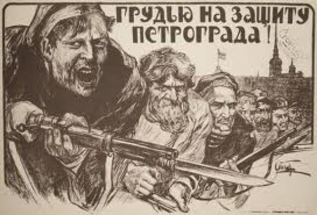 Bolsheviks end Russian involvment in First World War