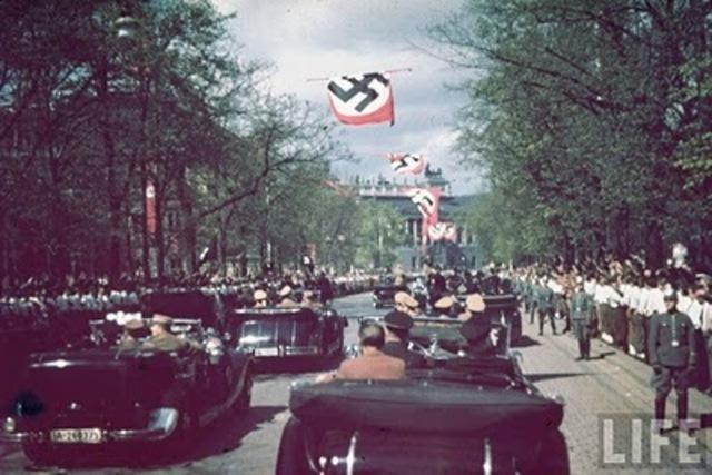 Hitler siezes Austria (Anschluss) and Czechoslovakia