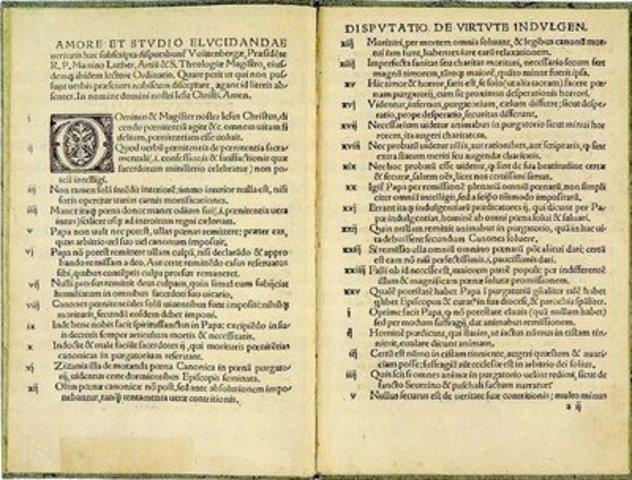 Publican las 95 Tesis de Lutero