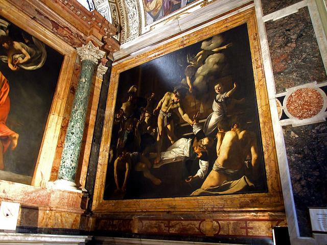 Caravaggio decora la capilla Contarelli