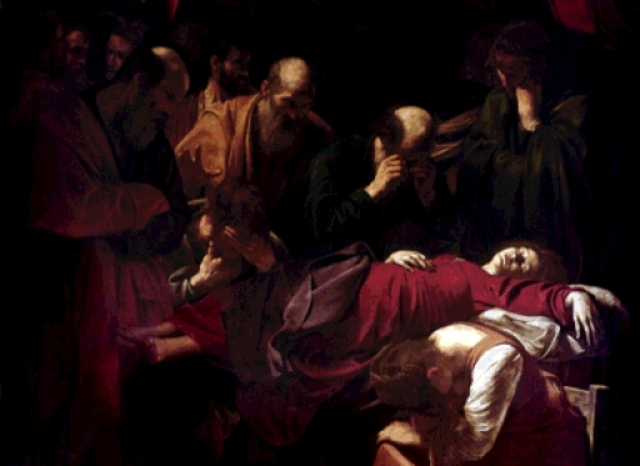 """La muerte de la Virgen"" Caravaggio"