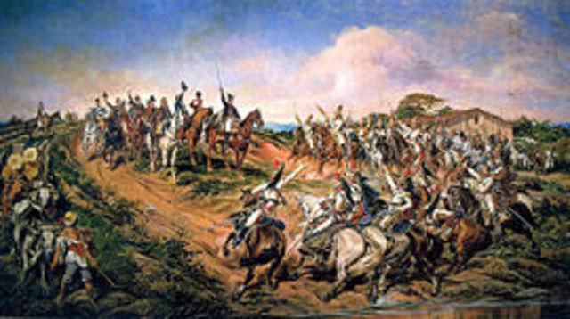 Proclamação da Independência do Brasil por D. Pedro IV.