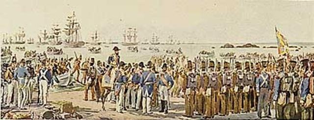 Desembarque em Alagoa e ocupação de Tavira