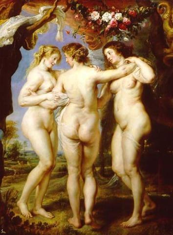 "Rubens pinta ""Las tres gracias"""