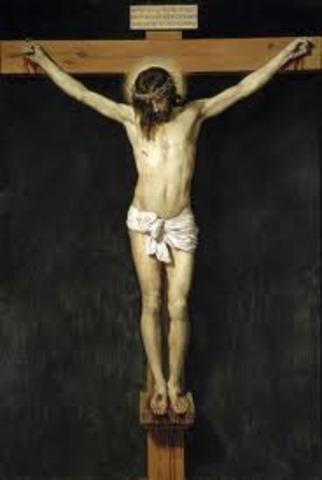 "Velázquez termina ""Cristo Crucificado"". Nace Johannes Vermeer"
