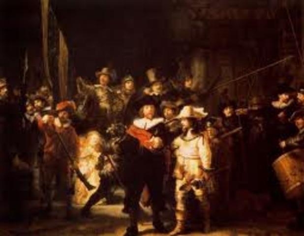 """Rembrandt termina """"La ronda de la noche"""""""