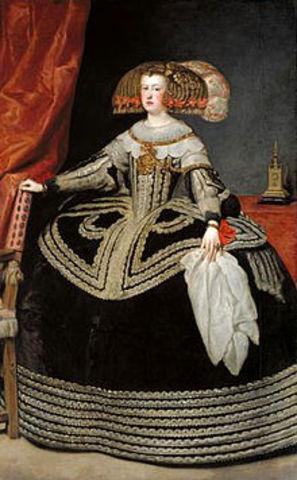 "Diego Velázquez  pinta ""Mariana de Austria"""