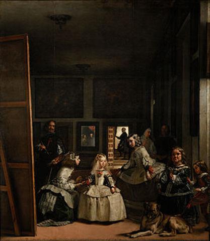 "Velázquez termina la obra ""Las Meninas"","