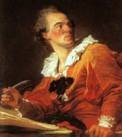 Nace Jean-Honoré Fragonard en Francia.