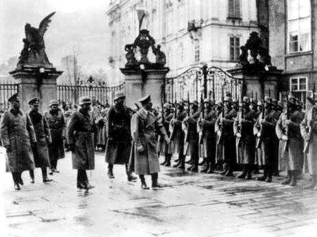 The German Army invades Czechoslovakia.