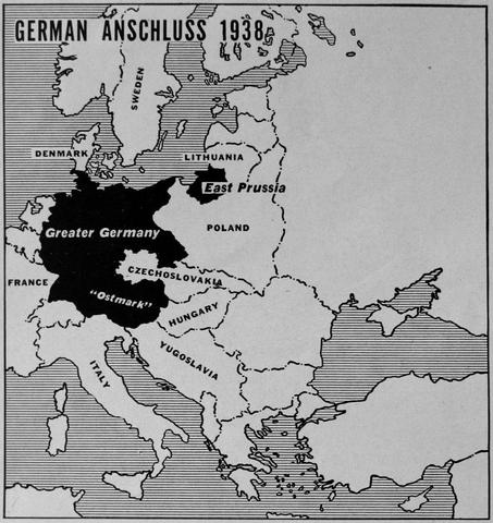 What was the name given to the joining of Germany and Austria? How did Hitler achieve it?