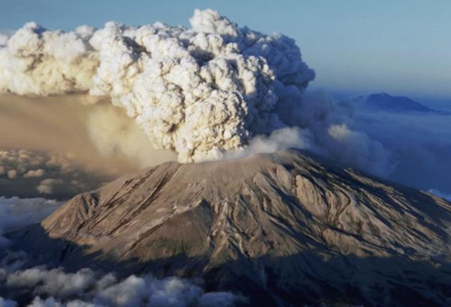 Mt. St. Helens erupts