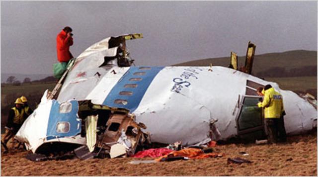 Pan Am flight 103 explodes
